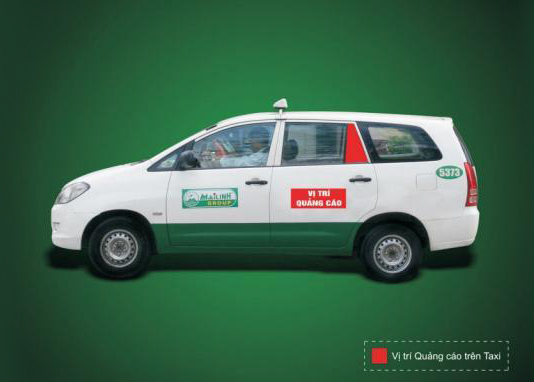 Hệ thống posm - Quảng cáo trên xe taxi