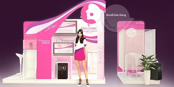 Booth quảng cáo sáng tạo